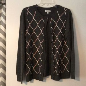 Ladies button up sweater